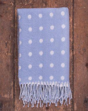 Foxford Blue Spot Baby Blanket 3529/B2