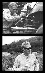 Thomas Crown Affair Film Set Steve McQueen Aran