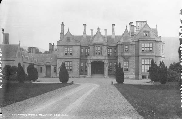Muckross_House,_Killarney,_Kerry By National Library of Ireland on The Commons via Wikimedia Commons