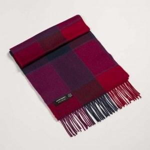 John Hanly Red Block Merino Scarf