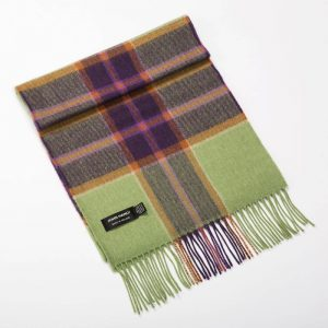 John Hanly Green Merino Scarf