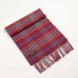 John Hanly Red Merino Scarf