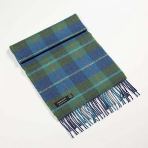 John Hanly Check Merino Scarf