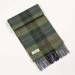 John Hanly Green Check Scarf