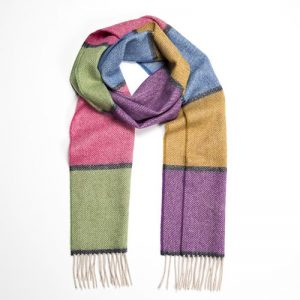 John Hanly Multi Color Block Scarf