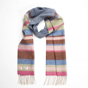 John Hanly Multi Color Stripe Scarf