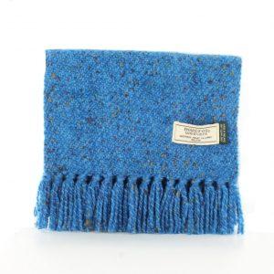 Mucros Blue Speckle Aran Scarf