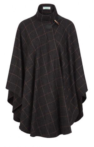 Jimmy Hourihan Charcoal Grey & Camel Cape