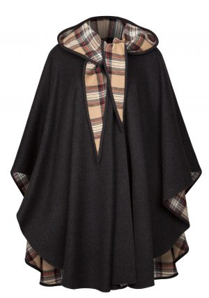 Jimmy Hourihan Classic Charcoal Wool Walking Cape
