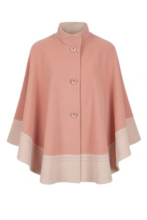 Jimmy Hourihan Wool Cashmere Two Tone Cape