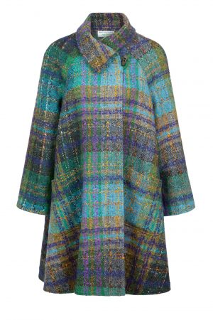 Jimmy Hourihan Turquoise Donegal Tweed Coat