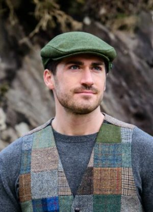 Green Flat Cap by Mucros Ireland