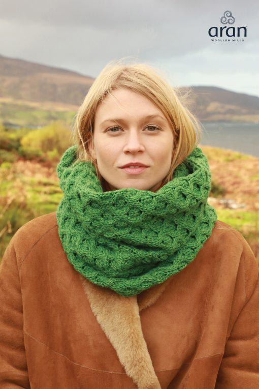 Aran Merino Wool Green Snood
