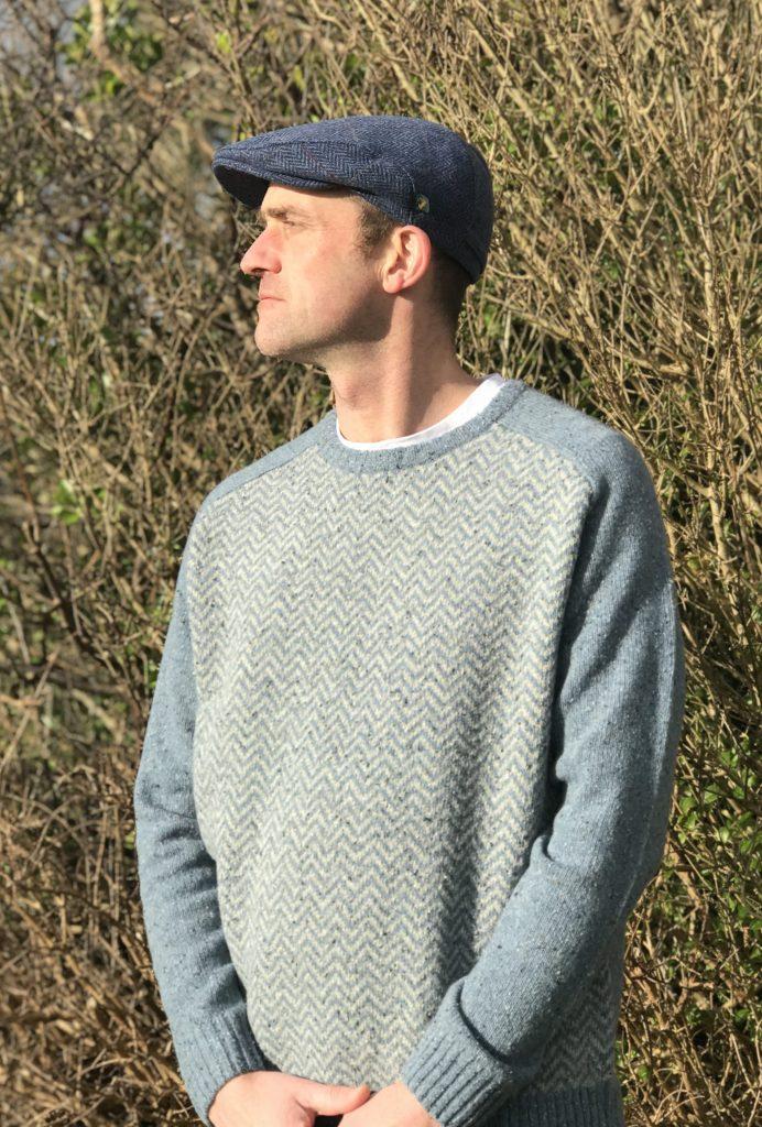 07cc281d Aran Herringbone Crew Neck Sweater r728 618 - Skellig Gift Store