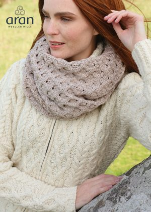Aran Merino Wool Brown Snood