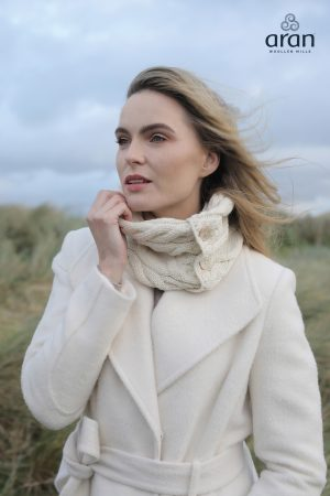 Natural Super Soft Aran Button Snood
