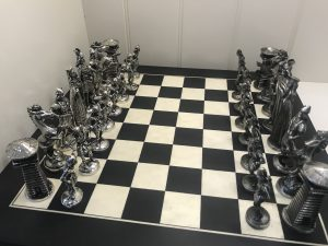 Mullingar Pewter Viking Chess Board