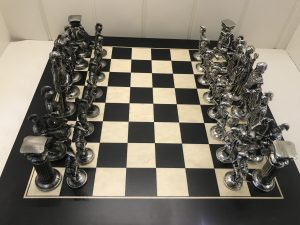 Mullingar Pewter Roman Chess Board