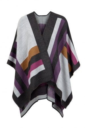 Jimmy Hourihan Shawl With Colour Blocking