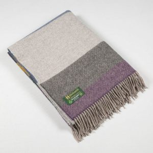 John Hanly Merino Lambswool Throw Blanket