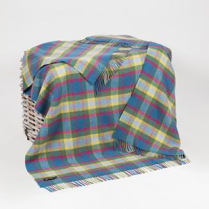 John Hanly Multi Color Cashmere Blanket Throw