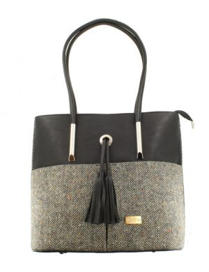 Mucros Gray Herringbone Molly bag