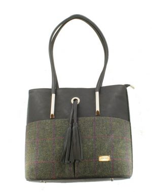 Mucros Green Herringbone Molly bag