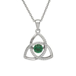 May Trinity Dancing Birthstone Pendant