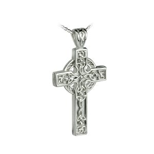 Solvar Silver Heavy Celtic Trinity Knot Cross