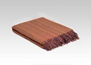 Mcnutt Tangerine Heritage Tweed Blanket