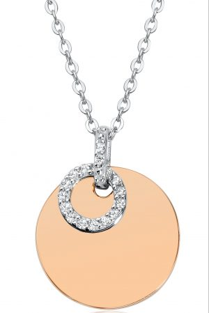 Waterford Crystal Silver Rose Circle Necklace