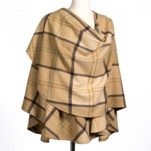 John Hanly Brown Lambswool Sue Cape