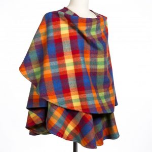 John Hanly Multi Color Lambswool Sue Cape