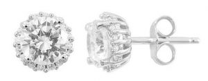 Waterford Crystal Sterling Silver Earrings