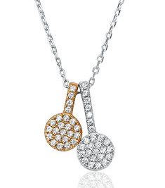 Waterford Crystal Silver Rose Gold Pendant
