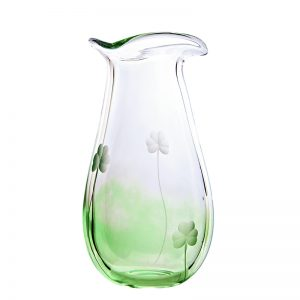 Irish Shamrock Medium Glass Vase