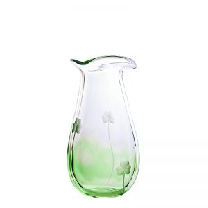Irish Shamrock Small Glass Posy Vase