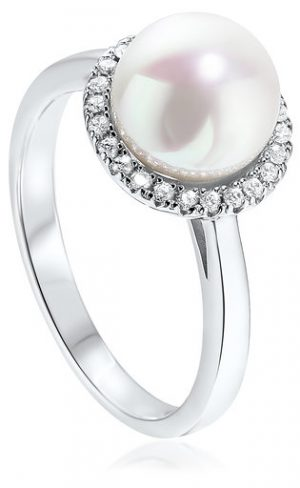 Waterford Crystal Sterling Silver Pearl Ring