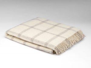 McNutt White Pearl Window Alpaca Blanket Throw