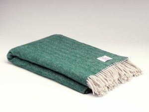 McNutt Heritage Spruce Herringbone Blanket