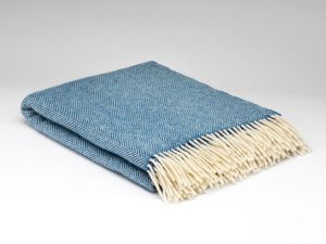 McNutt Blue Sky Herringbone Blanket