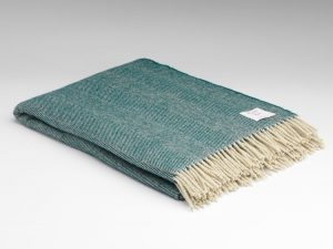 Mcnutt Scandi Deep Green Blanket Throw