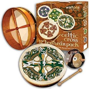 "Waltons 15"" Gaelic Celtic Cross Bodhran Pack"