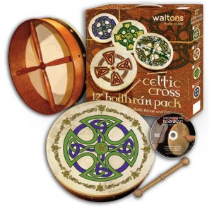 "Waltons 12"" Celtic Cross Brosna Bodhran Pack"