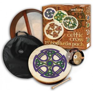 "Waltons 12"" Celtic Cross Fanore Bodhran Pack"
