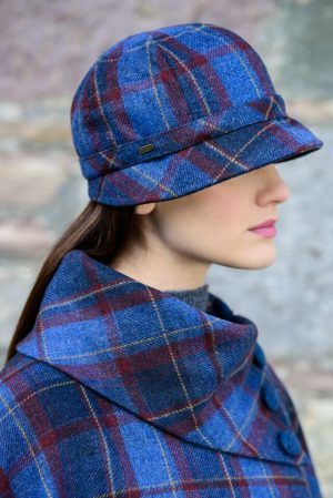 Ladies Mucros Check Flapper Cap 972