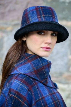 Mucros Ladies Check Clodagh Hat
