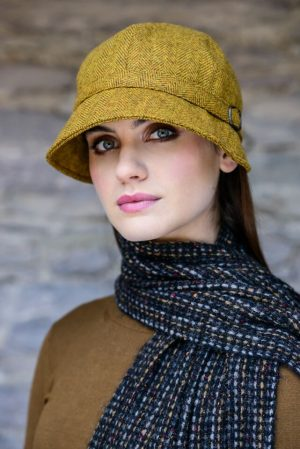 Ladies Mucros Mustard Flapper Cap