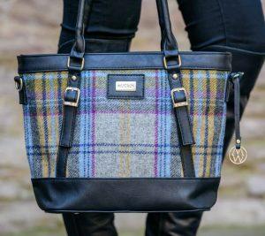 Mucros Gray Check Kelly bag