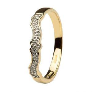 Shanore Claddagh 14k Diamond Matching Wedding ring